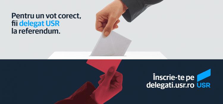 Înscrie-te ca delegat USR la Referendum!