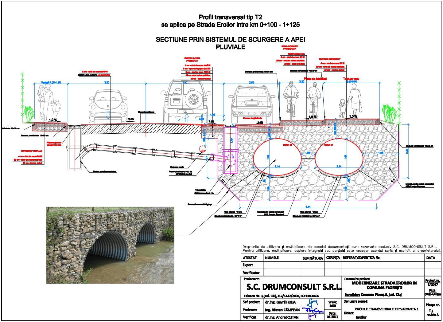 Puncte negative în proiectul de modernizare a străzii Eroilor din com. Florești