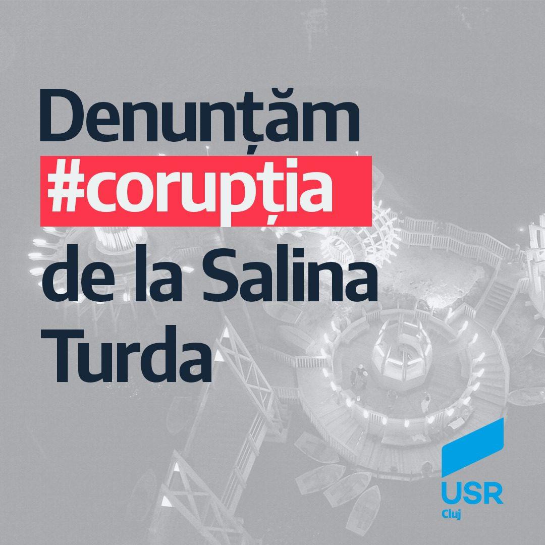 USR Cluj denunță la DNA faptele de corupție de la Salina Turda