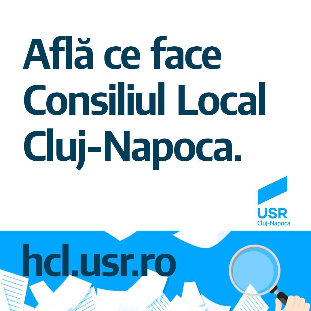 Astăzi integrăm Consiliul Local Cluj-Napoca în hcl.usr.ro