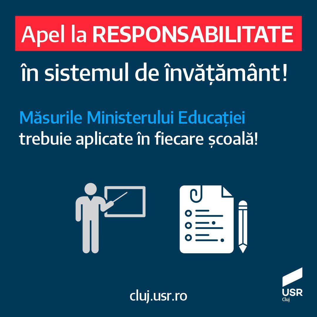 Alexandra Oană: Apel la responsabilitate în sistemul de învățământ!