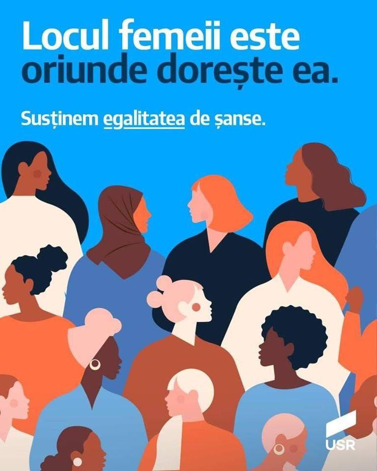 8 Martie Ziua Femeii USR egalitatea de sanse