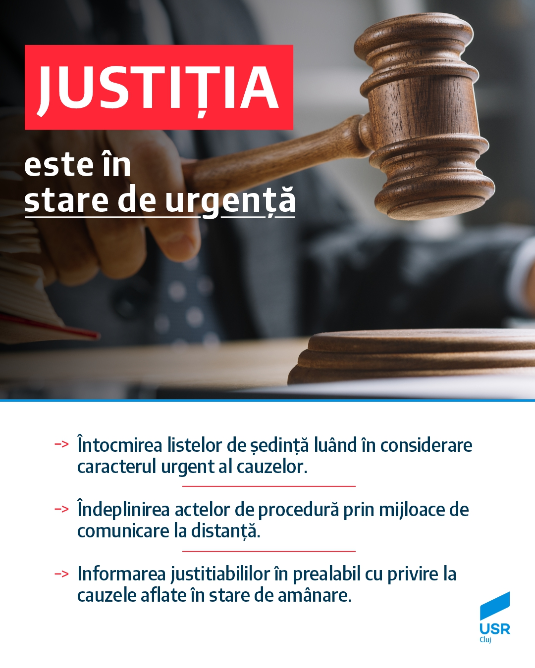 Radu Chirilă: Justiția este în stare de urgență!