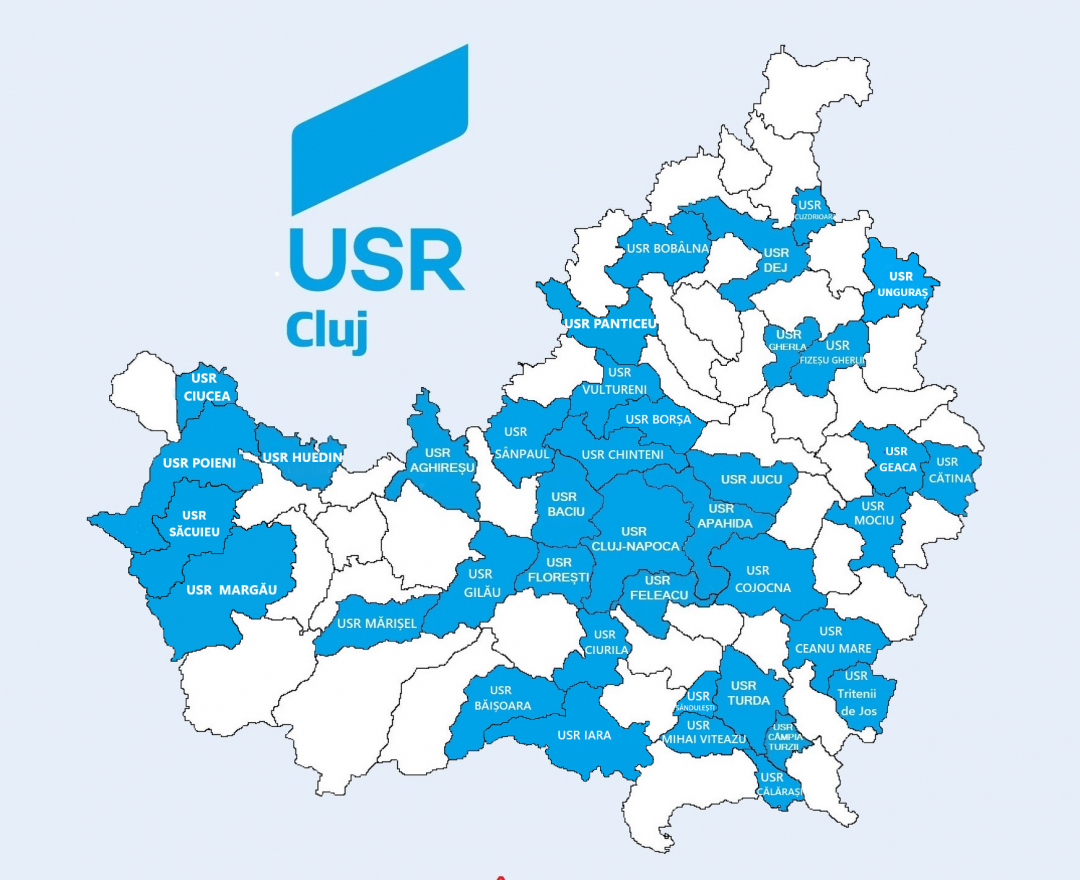 Harta extinderii USR Judetul Cluj