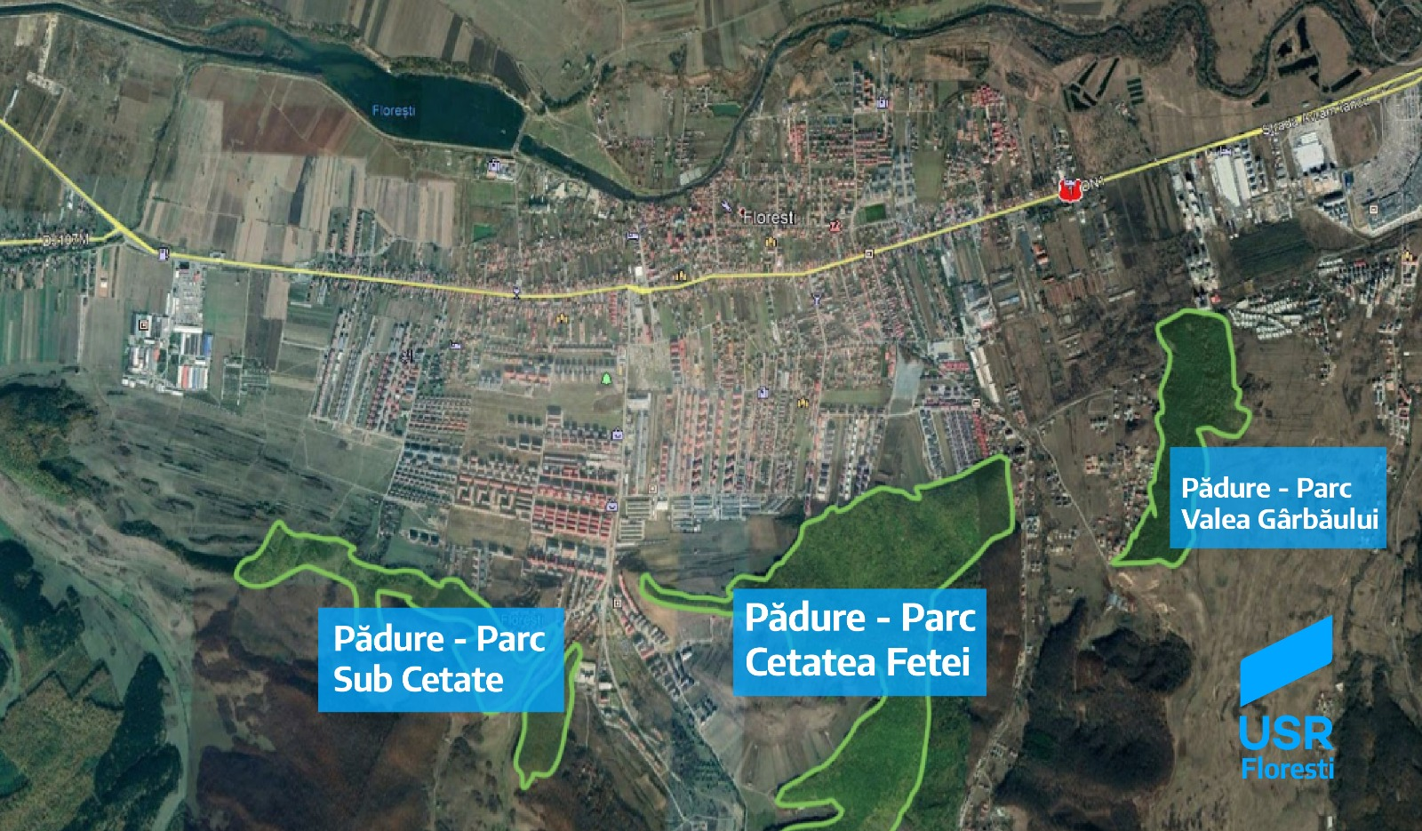 Păduri-parc în Florești
