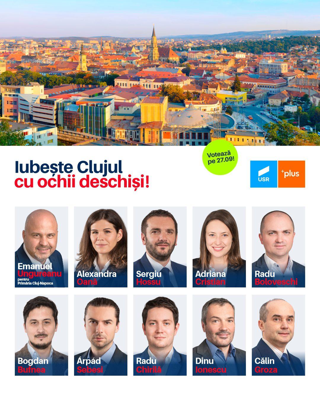 Alianța USR-PLUS propune o echipă de oameni noi în Consiliul Local Cluj-Napoca