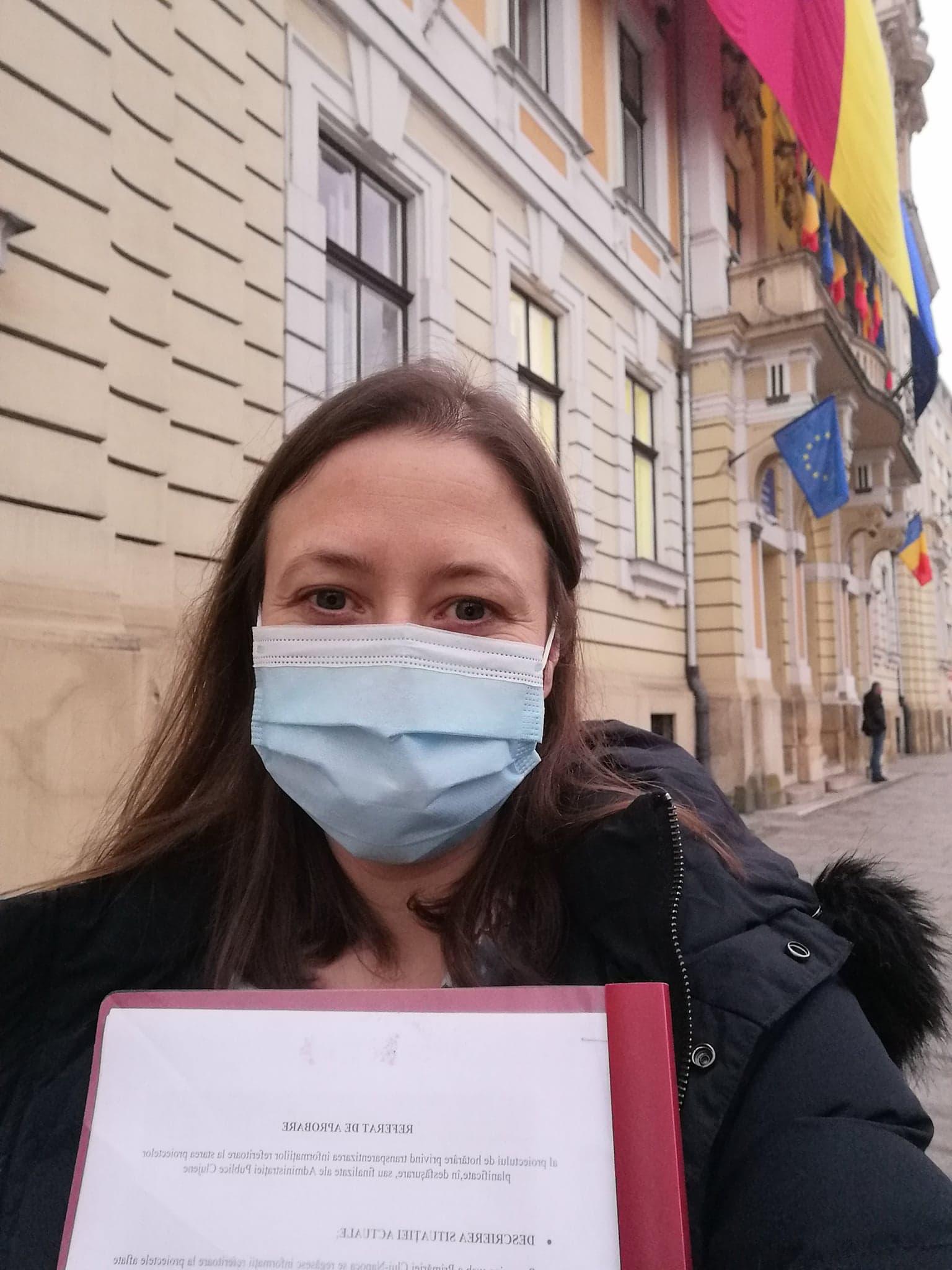 """Adriana Cristian: """"Am depus un proiect pentru mai multă digitalizare pe bune în Cluj-Napoca"""