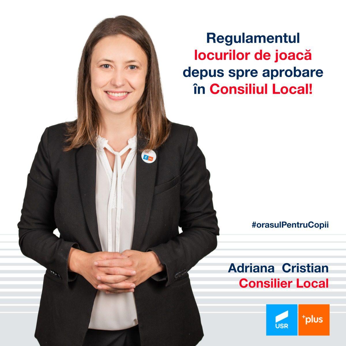 Adriana Cristian: Un nou pas în transformarea Cluj-Napoca în Orașul pentru Copii, am depus regulamentul locurilor de joacă!
