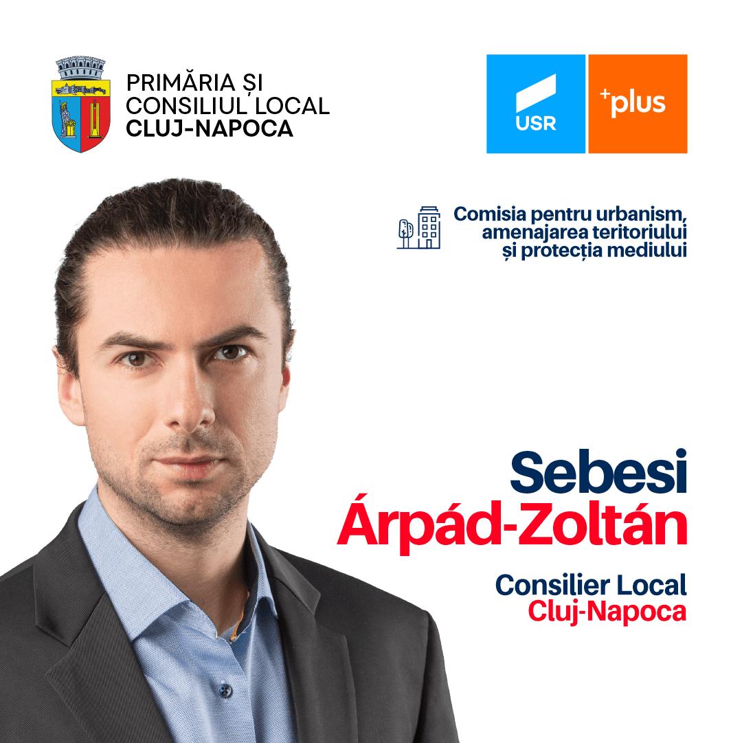 Árpád Sebesi – de astăzi consilier local USR PLUS Cluj-Napoca