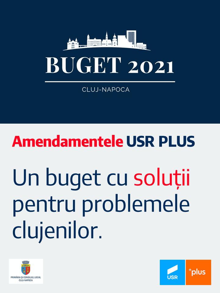 Un buget cu soluții pentru problemele clujenilor. Amendamentele USR PLUS.